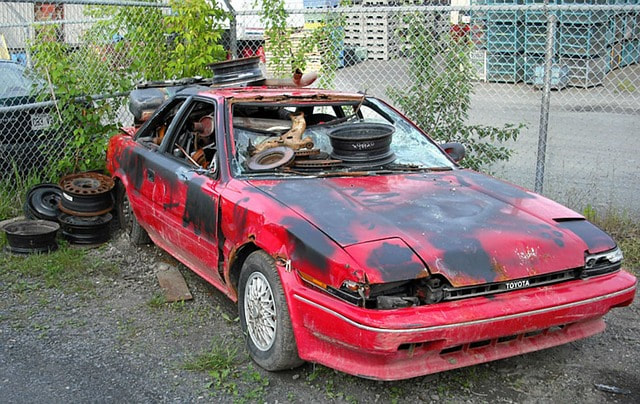 ​This is a picture of a junk car removal.